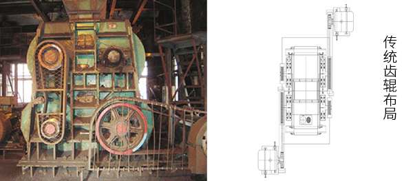 电机对角摆放结构