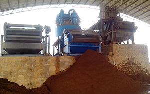 云南3000吨重晶石现场