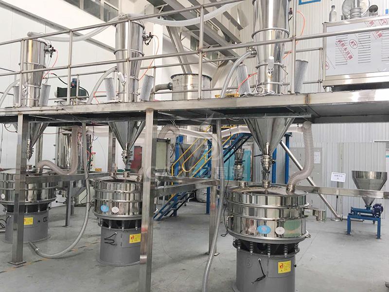 金属粉末的输送筛分系统
